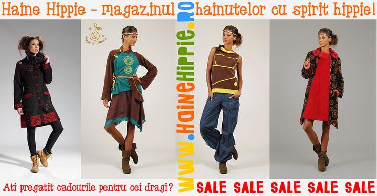 ✿ www.hainehippie.ro ✿  Aţi pregătit cadourile pentru cei dragi? Haine Hippie sărbătoreşte ultimele zile din an cu multe reduceri şi transport gratuit la comenzile de minim 2 produse din categoriile: haine, şaluri si genţi.