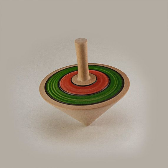 Spin Top - Wood Spinning Top - Finger Top on Etsy, $12.00