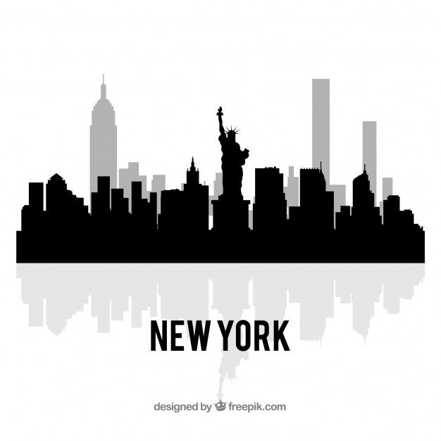 Download Black Skyline Of New York For Free New York Retro Vector Illustration Skyline