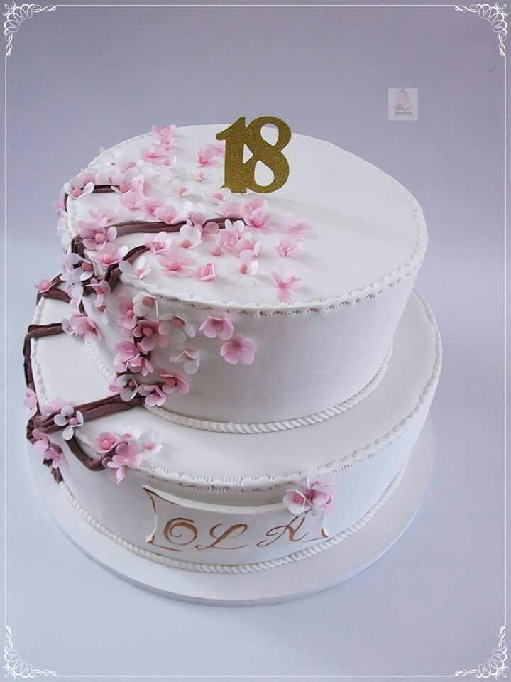 Tort Na 18 Urodziny Kwiaty Wisni Birthday Wishes Cake Cake 18th Birthday