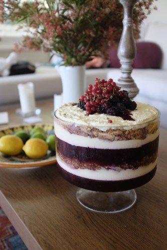 Boysenberry and Mascarpone Trifle - Hotly Spiced