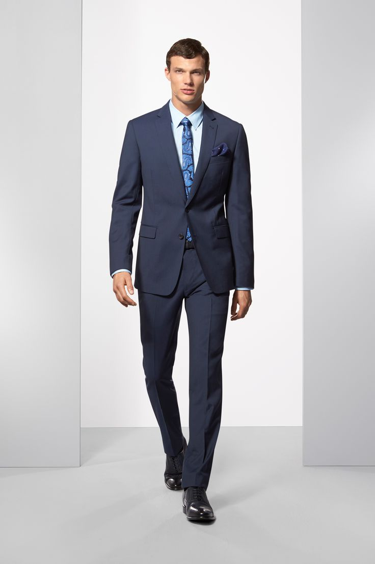 Calibre Suiting AW15 - The Lead Blue Suit