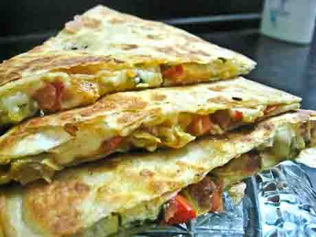 Vegetarian  Mexican Quesadillas Recipe