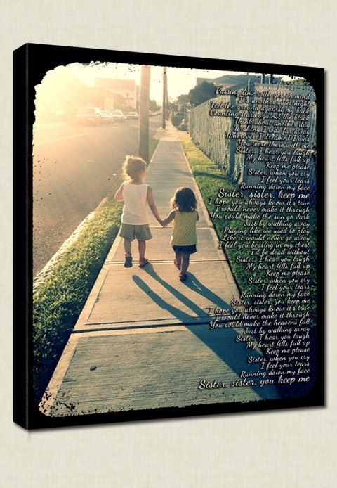 Sister's #Photo #Canvas Gift pictures by #Geezees with quotes
