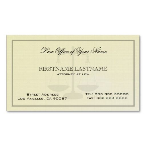 Attorney at low office simple linen texture business card templates lawyer business card for Office business card template