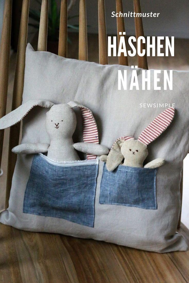 Freebie: Nähen für Ostern: Hasenkissen selber machen – das schaffen mit meiner…