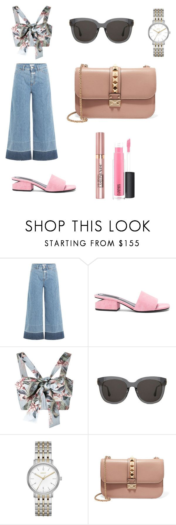 """Subtle Beautu"" by fashionkillakaren ❤ liked on Polyvore featuring Closed, Alexander Wang, Zimmermann, Gentle Monster, DKNY, Valentino, L'Oréal Paris and MAC Cosmetics"