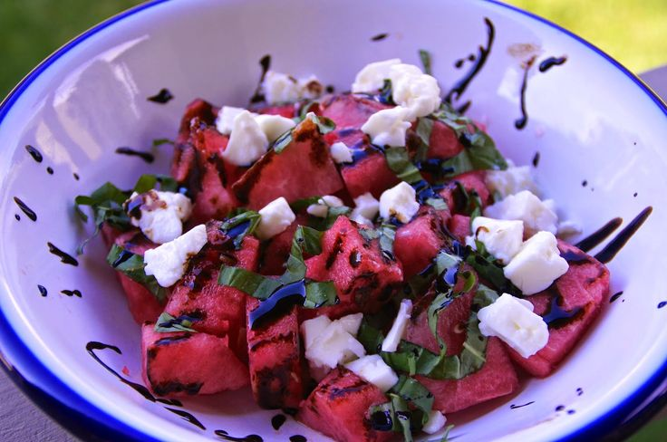 Little Bit of Everything: Watermelon, Basil & Feta Salad