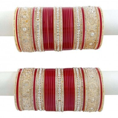 Bridal Bangle 66 Pcs Indian Chura Maroon Bangles Jewellery Designer Jewelry 2*6