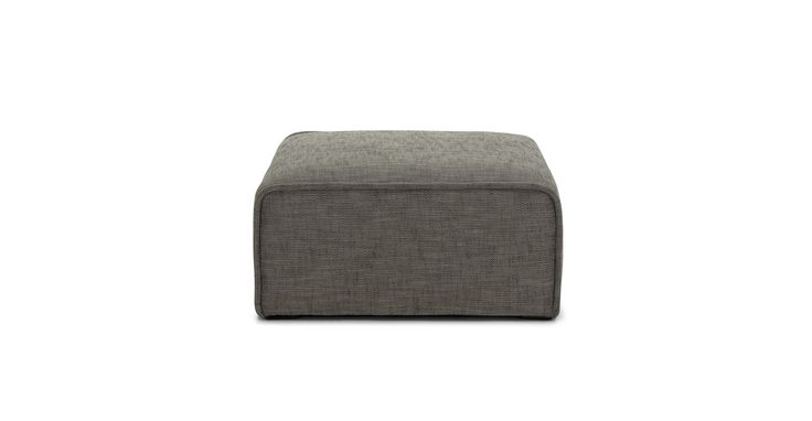 $399  - Quadra Mineral Taupe Ottoman - Sectionals - Article | Modern, Mid-Century and Scandinavian Furniture