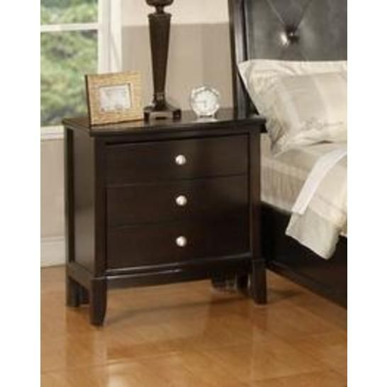 Argein Solid Wood Construction Fully Assembled Night Stand Dark Espresso Finish Master Bedroom