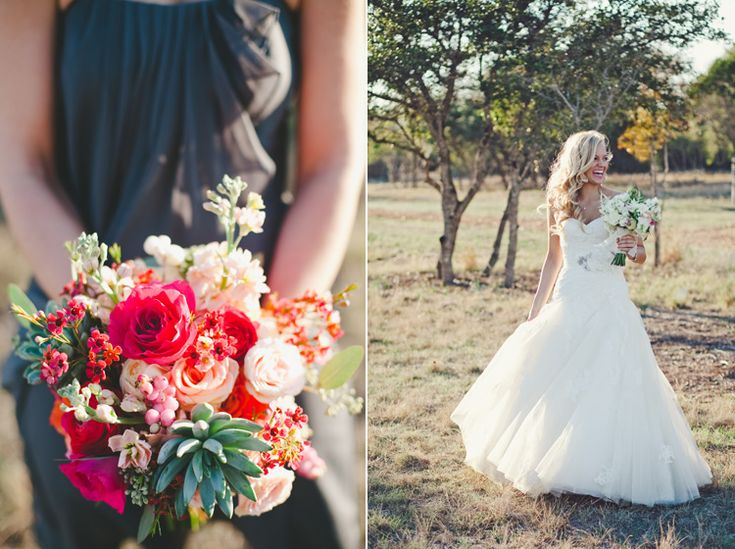 Bold bouquet, outdoor photography