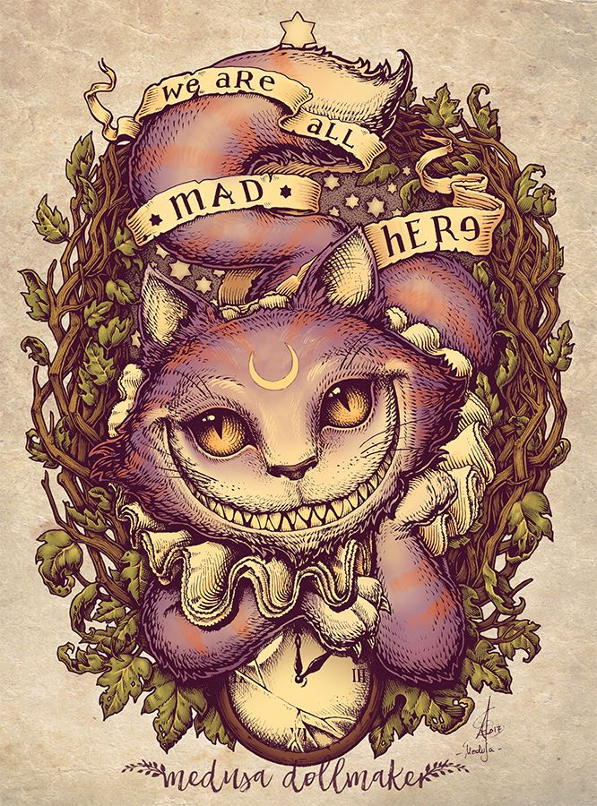 Cheshire Cat by Medusa-Dollmaker