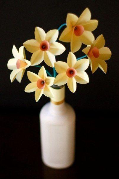 Auf folgende Seite finden Sie eine schöne Ostern Idee. Die wunderschöne Narzissen aus Papier basteln - ist heute kein Problem. Die Anleitung finden Sie hier