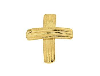 Σταυρός Χρυσό Κ18 Ορθογώνιος μικρός ζαγρέ #cross #gold  #handmade #craftsmanship #goldsmith #Thessaloniki #Greece 23777