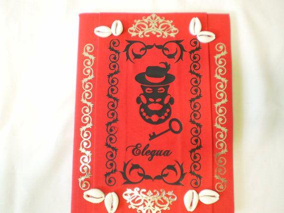 Eleggua Orishas Decorated Notebook for Ita Yoruba by OshaDesigns