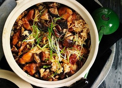 Clay-pot chicken rice. | Oishii | Pinterest