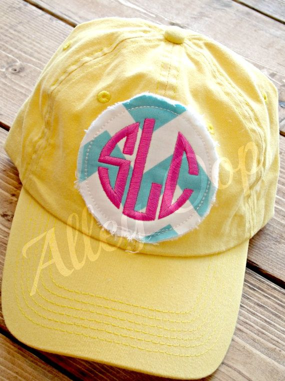 Preppy Monogrammed Baseball Cap hat Personalized hat on Etsy, $20.00