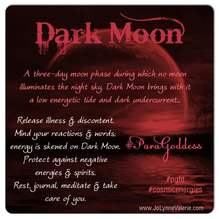 "For those who truly feel the moon you will understand ""Mind your words"" in the dark moon"