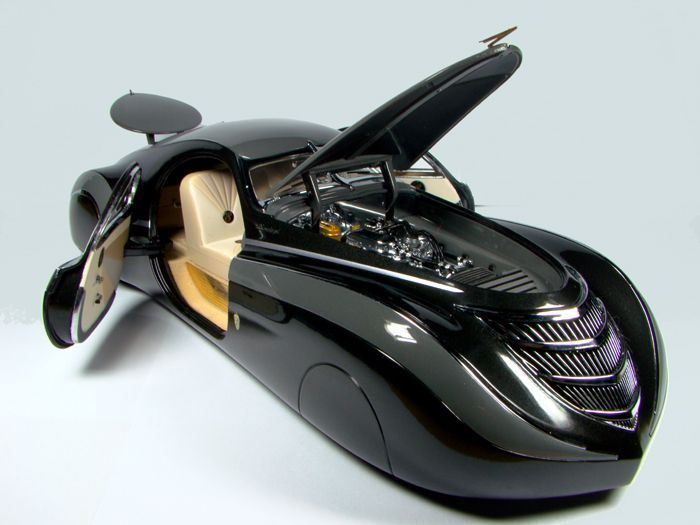 Art Deco Style25 Duesenberg Coupe Simone Midnight Ghost