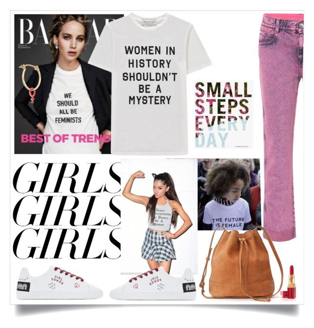"""""""09/03/18"""" by lizart ❤ liked on Polyvore featuring Être Cécile, Alison Lou, STELLA McCARTNEY, womensHistoryMonth, pressforprogress and GirlPride"""
