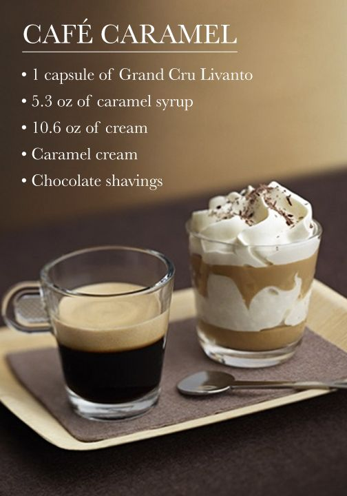 Satisfy your sweet tooth by serving up this Café Caramel coffee creation for dessert! This recipe makes a beautiful ending to any dinner party, and the light froth adds wonderful texture.