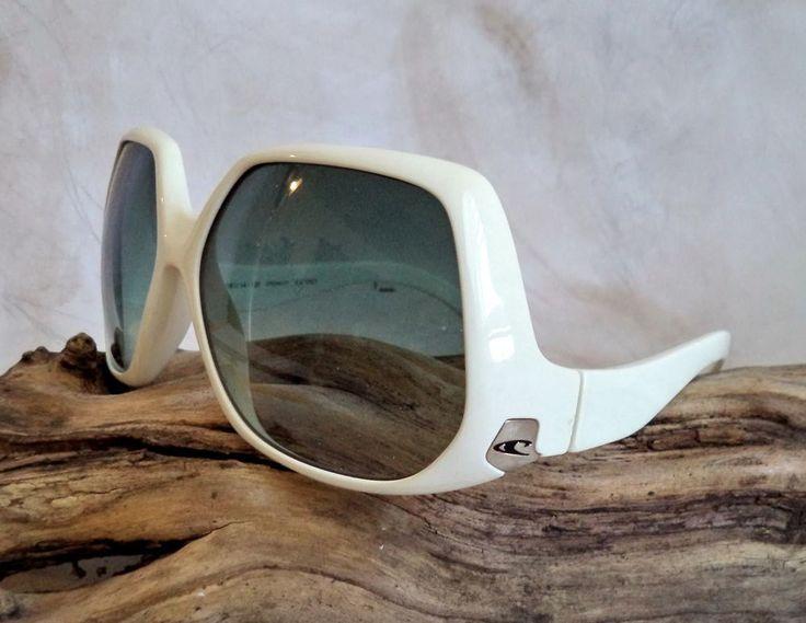 O'Neill Whitney Sunglasses Womens White Retro Oversized Italy Funky ONS00027 vtg #ONeill #Oversized