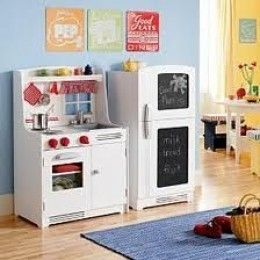 A Kids Wooden Kitchen Set Makes For Great Play For Boys And Girls Alike.  Children