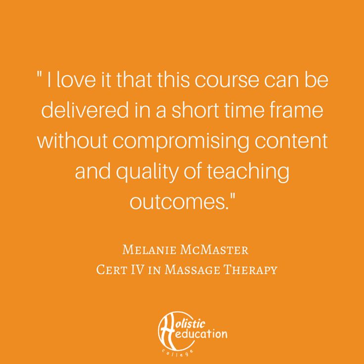 What are you waiting for?  Learn how you can fast track your career in massage therapy today!