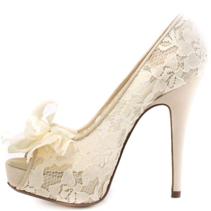 hotline ivory lace wedding shoeslace