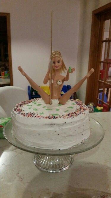 Look what I made! Stripper cake for his 21st!