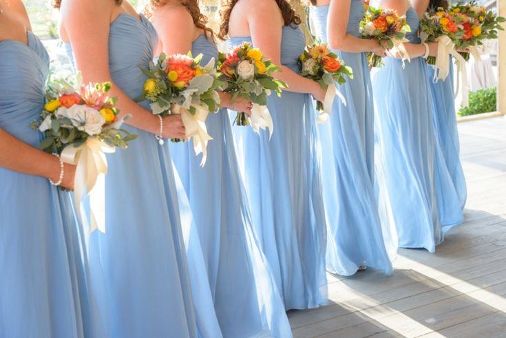 Orange & Cornflower Blue Tennessee Wedding