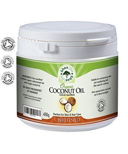 Olio Di Cocco Organico Non raffinato 100% Extra Vergine Pressato A Freddo, Puro, Raw & Naturale Uso - Perfectly Migliore Salute Benefici per tutti pelle e capelli - 450g, 450g