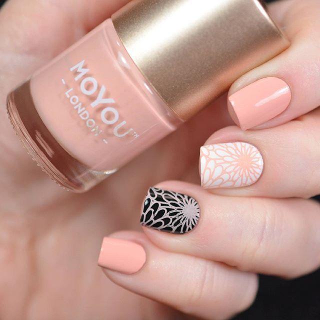 Stamping polish #MoYouLondon  Skin Silk by @moyou_london from @lakodom + stamping plate FUN 16 by @faburnails  В блоге обзор сразу трех лаков для стемпинга  #спасиболакодому
