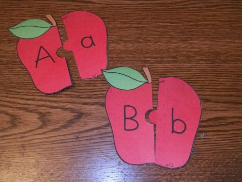 Think Crafts - Apple Alphabet Puzzles