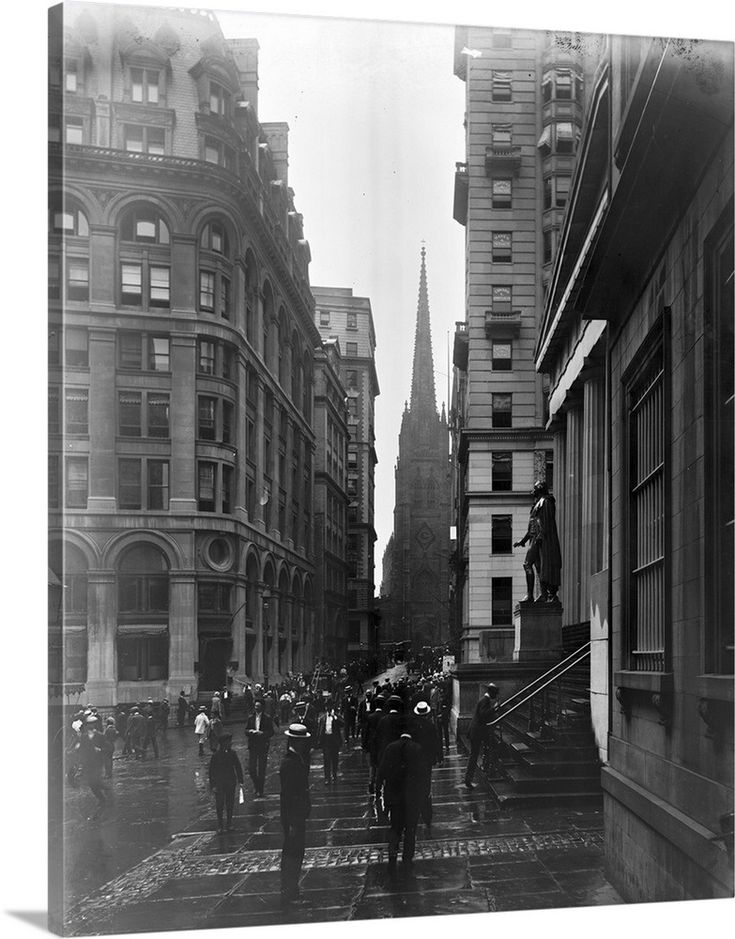a view down wall street in new york city 1905 wall on wall street news id=70762