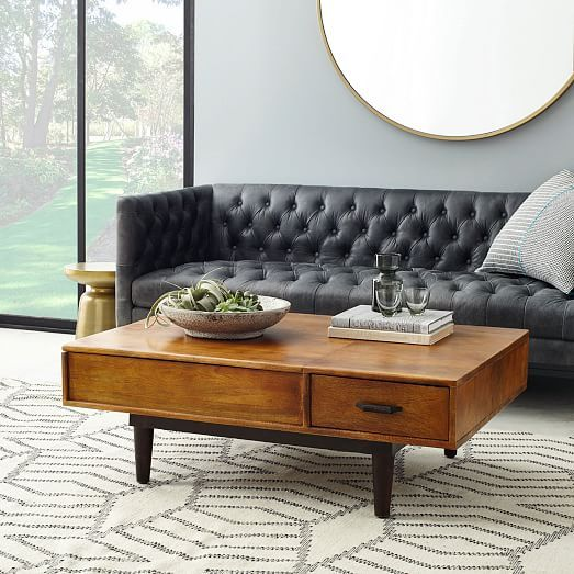 Lars Mid-Century Storage Coffee Table | West Elm $699