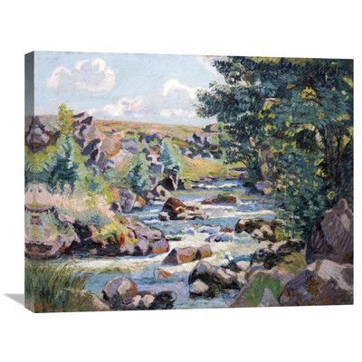 Global Gallery 'Pontgibaud Countryside' by Armand Guillaumin Painting Print on Wrapped Canvas Size: