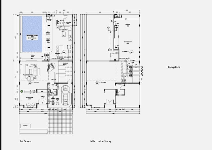 Floorplans  J House Residential Medan, Sumatera Utara Indonesia