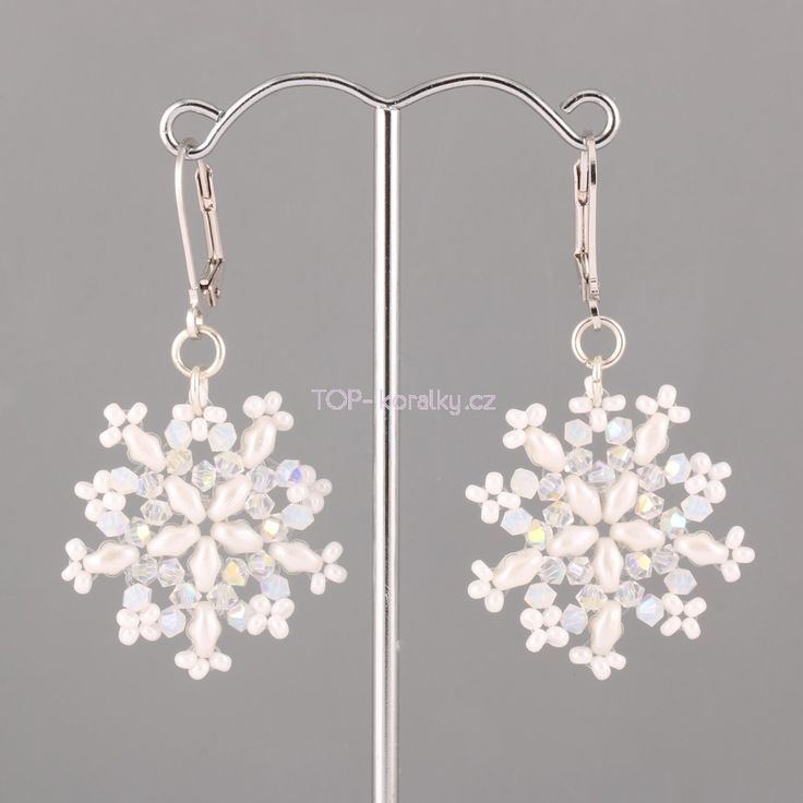 Snowflakes SuperDuo of beads and beads Swarovski Elements