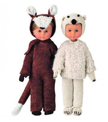 Des costumes d'ours et de renard pour poupées / Bear and fox costume for dolls