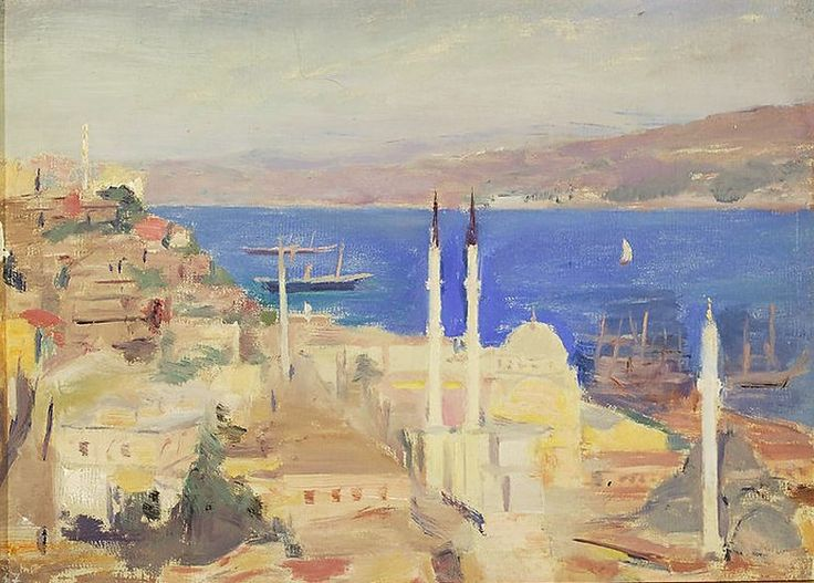 lilithsplace: 'View of the port of Constantinople. On the journey to Constantinople', 1893 - Jan Ciaglinski (1858–1913)