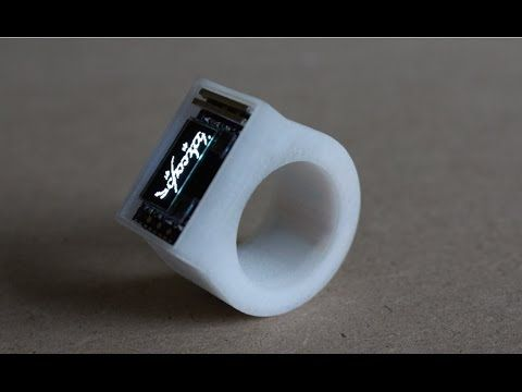 AN OLED RING FOR BLUETOOTH NOTIFICATIONS