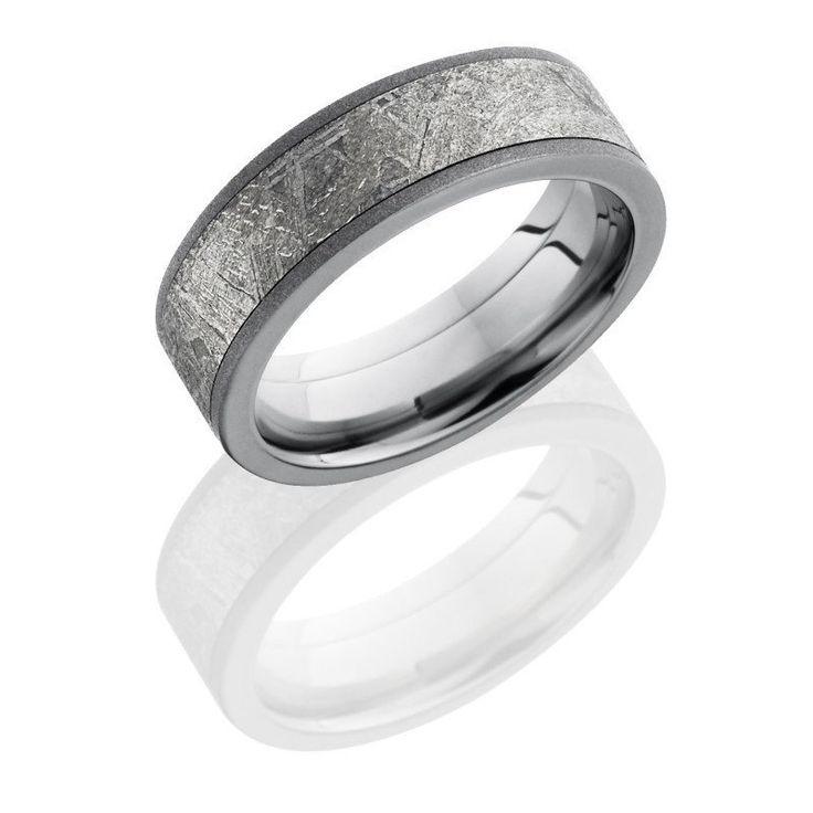 Titanium 7mm Wide Meteorite Wedding Band