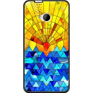 Sun and Sea By Fimbis for                           HTC  One  #fimbis #thekase #sun #pattern #blue #style #styleblog #fashion #fashionblogger #fashionblog #styleblogger #iphone6 #designer #iphone6plus #abstract #résumé #géométrique #mode #blogdemode #coques #fblogger #coquesiphone #Noël #festive #defête #idéesdenoël #français #christmasgiftideas #jaune #sea #nautique #orange