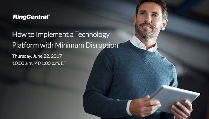 Without a carefully considered #implementation plan, any #technology transition has the potential to send your #business's #operations into disarray. Sign-up for our upcoming #webinar on Thursday, 6/22, and discover how your business can enjoy a smooth and effective transition to a new #communications solution: http://ringcentr.al/2s5wBIp // #CloudComputing #CloudCommunications #UCaaS #Technology #TechTrends