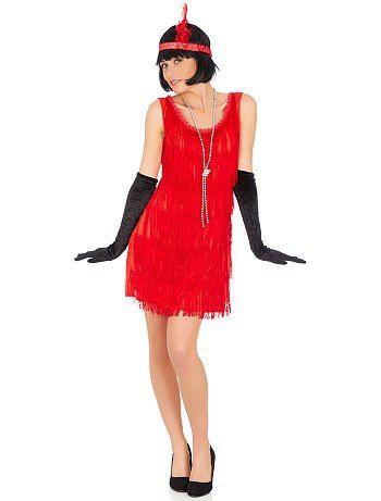 Costume Charleston                                                                                                 rouge Femme