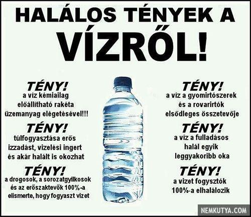 Halálos tények a vízről!