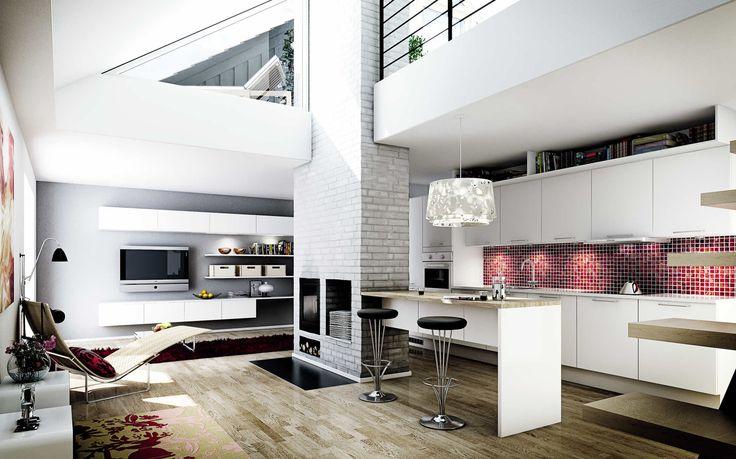 Køkken i model Dekor Glat Hvid