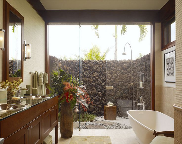 Picture Gallery For Website  Inviting Tropical Bathroom Design Ideas